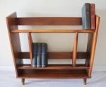 Mid century modern angled Danish bookshelf