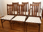 mcm slatted dining chairs set of 6 in chevron 2