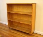 Mini mid century modern blonde bookshelf