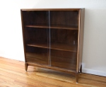 Mid century modern bookcase  with glass doors