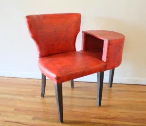 red gossip bench 1