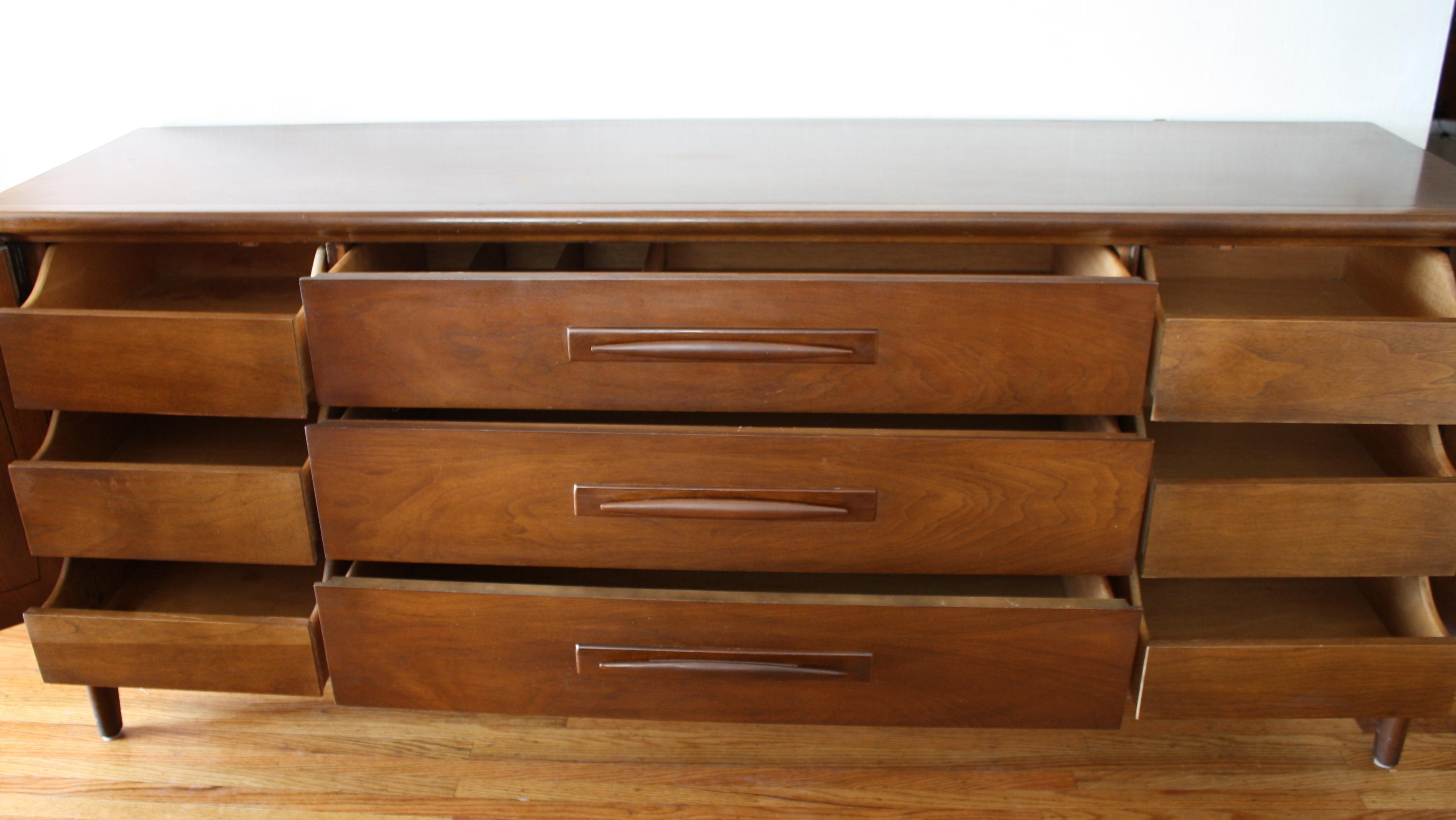 Mid Century Modern Low Dresser Credenzas : Picked Vintage