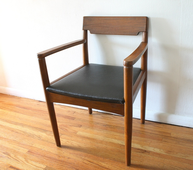 mcm arm chair wood back 1