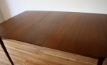 mcm surfboard dining table with hidden leaf 4