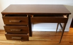 mcm Bassett desk with carved wood handles 2