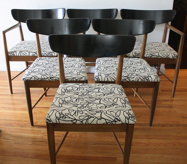 mcm black and white chairs
