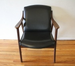 mcm black naugahyde arm chair 4