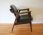mcm black naugahyde arm chair 5