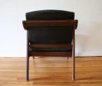 mcm black naugahyde arm chair 6