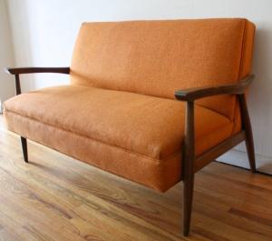 mcm orange settee 1