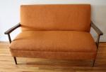 mcm orange settee 2