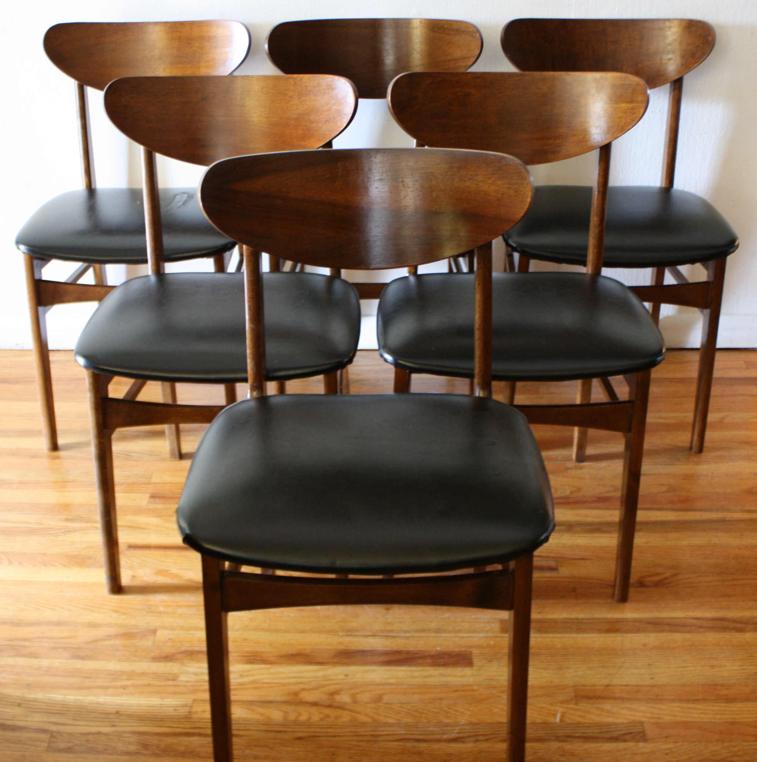 mcm set of 6 dining chairs 1
