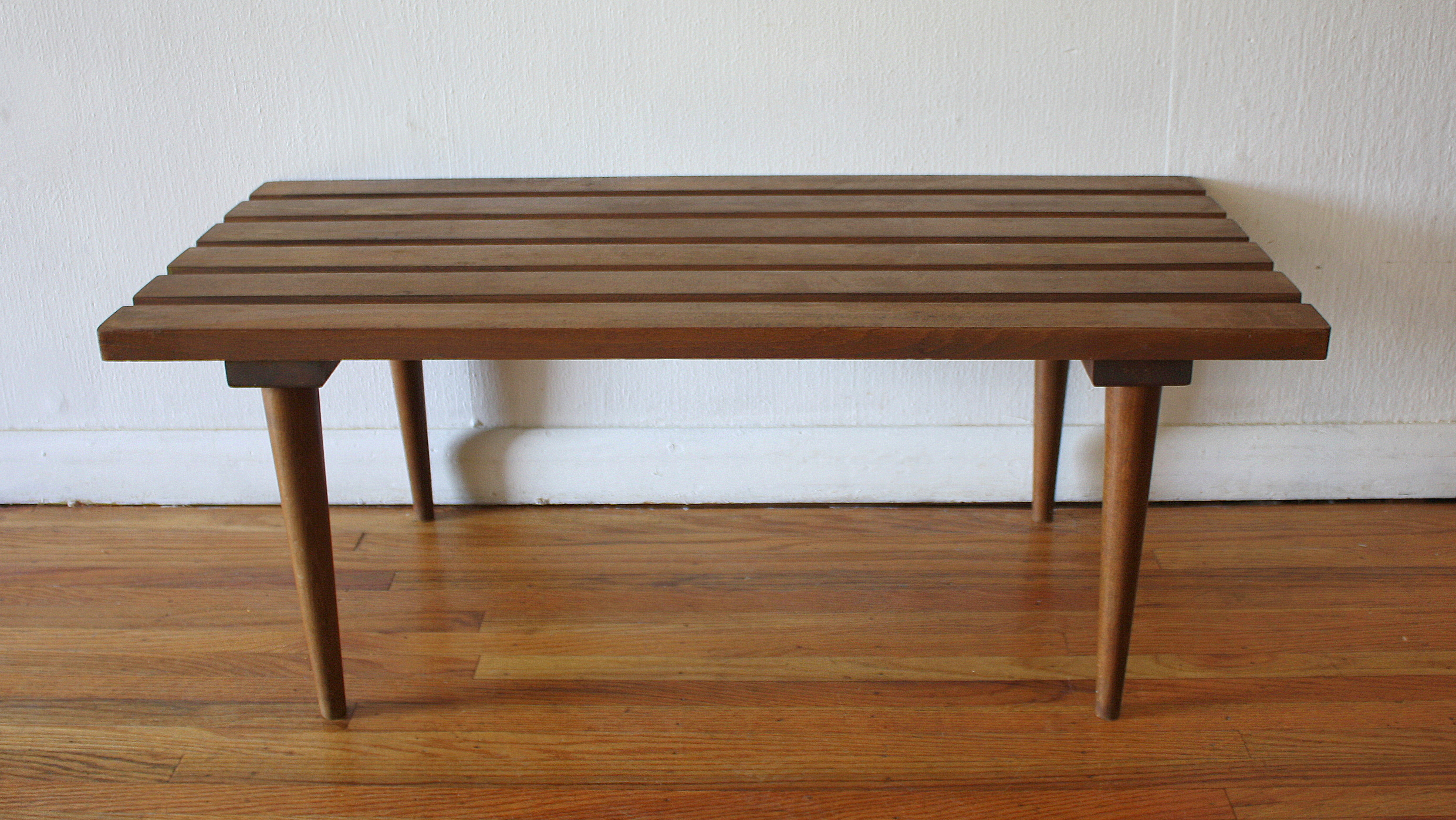 Pleasant Mid Century Modern Slatted Bench Coffee Tables Picked Vintage Unemploymentrelief Wooden Chair Designs For Living Room Unemploymentrelieforg