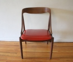 mid century modern candy apple red chair 2
