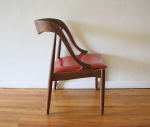 mid century modern candy apple red chair 3