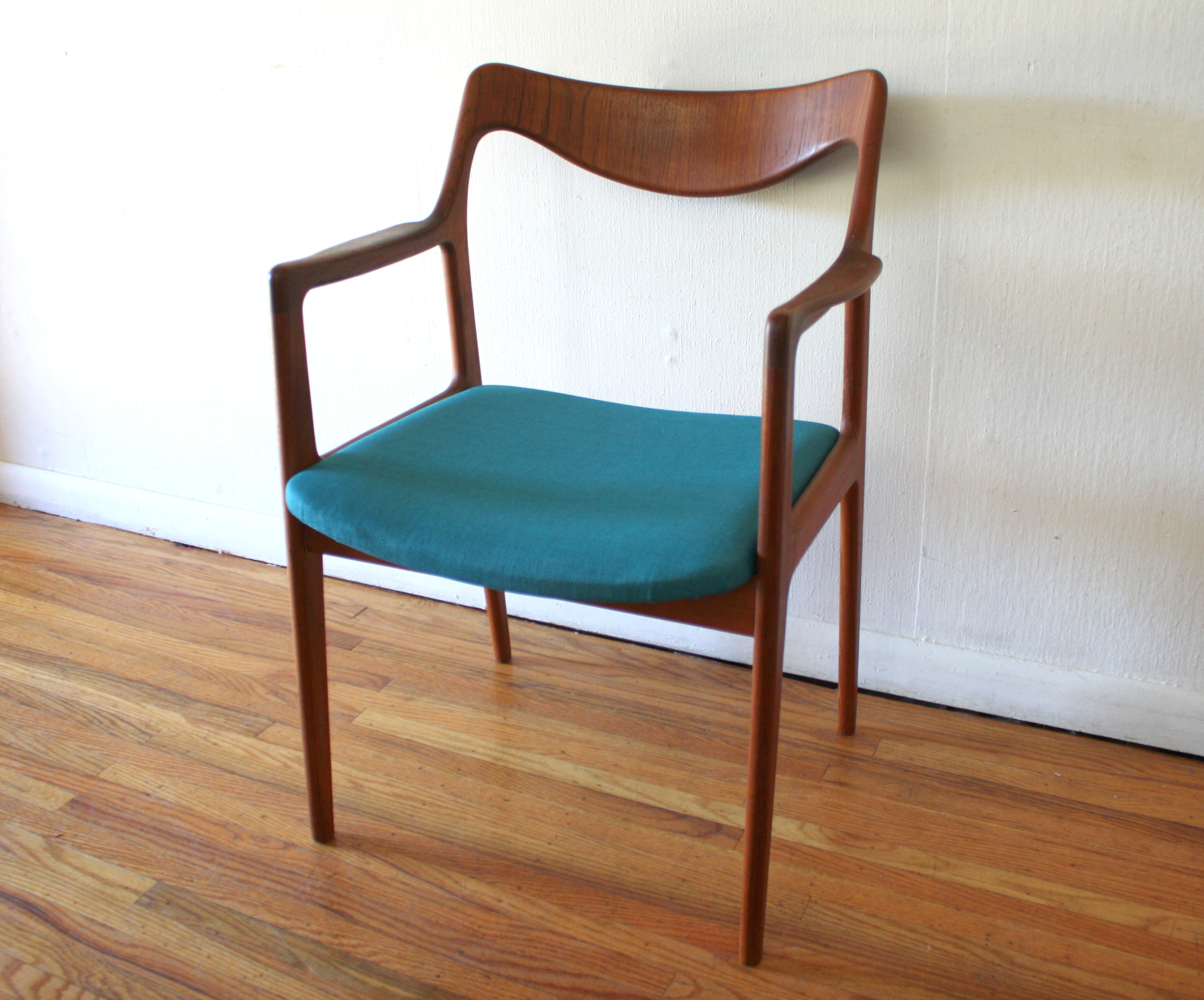 Mid Century Modern Swedish Teak Chair Picked Vintage