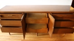 bassett low dresser credenza with sculpted drawers 2