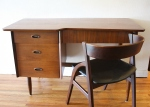 hooker desk with mcm curved back chair 1