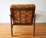 mcm arm chair geometric pattern cushions 3