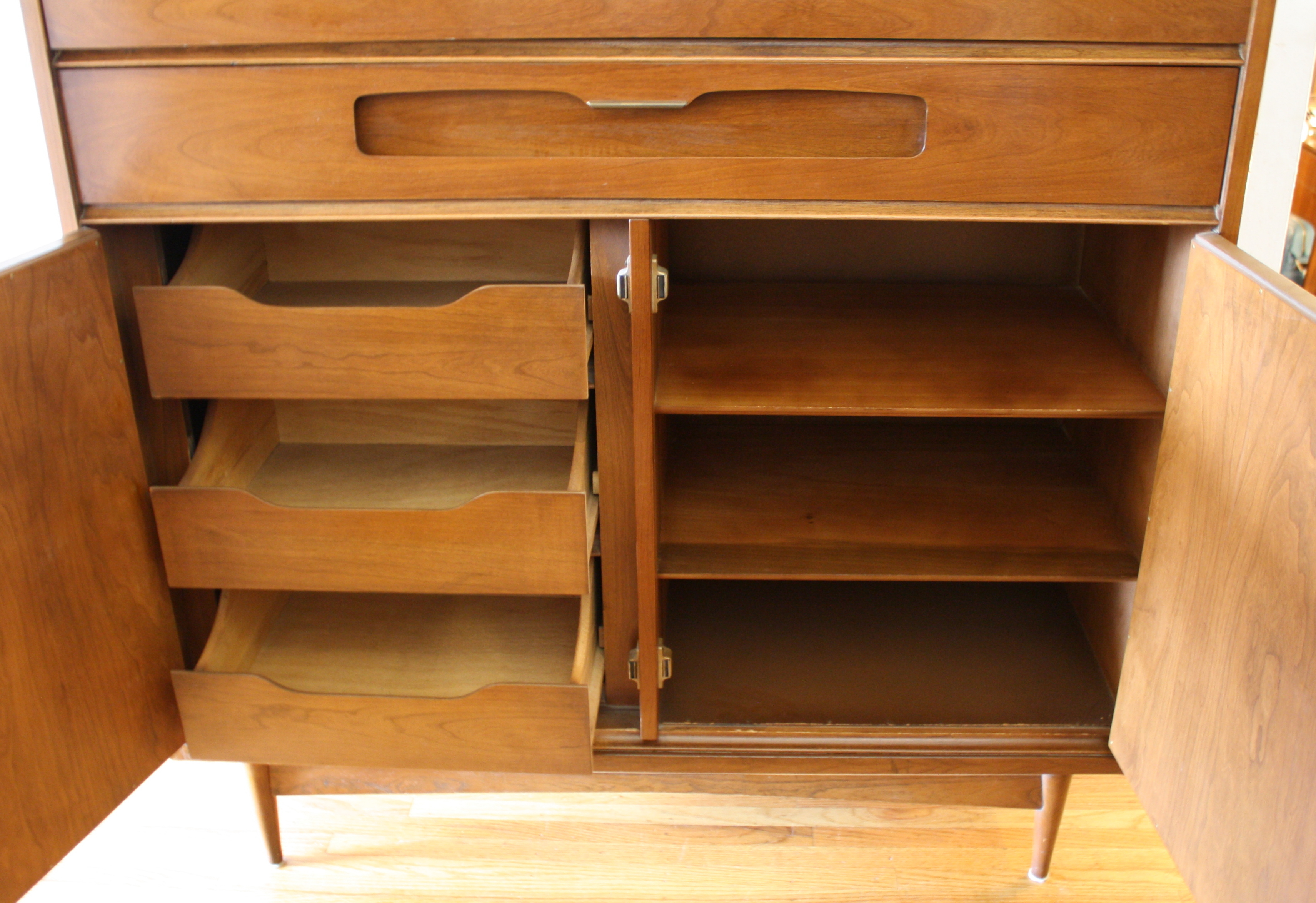 Mid Century Modern High And Low Dresser By Bassett