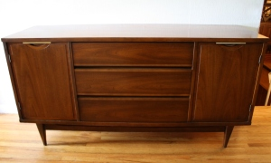 mcm credenza side cabinets with brass handles 1