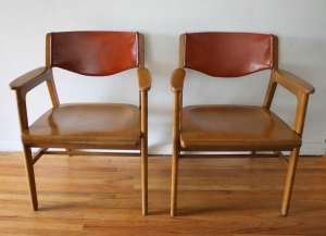mcm Gunlocke chairs solid wood 1