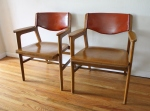 mcm Gunlocke chairs solid wood 2