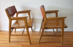 mcm Gunlocke chairs solid wood 3
