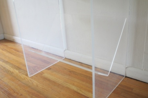 mcm lucite side table with magazine rack 2