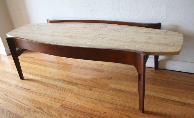 travertine surfboard coffee table 2