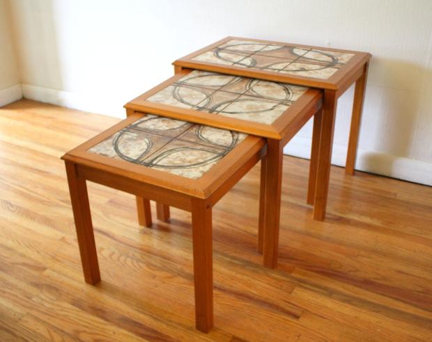 danish teak tile nesting tables 1