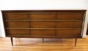 mcm Bassett 9 drawer low dresser credenza 1
