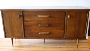 Bassett credenza with wood handles 1