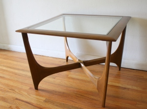 Lane glass topped coffee side end table 2