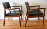 mcm black arm chair pair 2