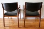 mcm black arm chair pair 3
