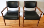 mcm black arm chair pair 4
