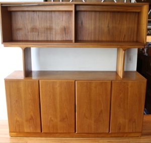 Scova Dixie teak credenza with bookshelf 1