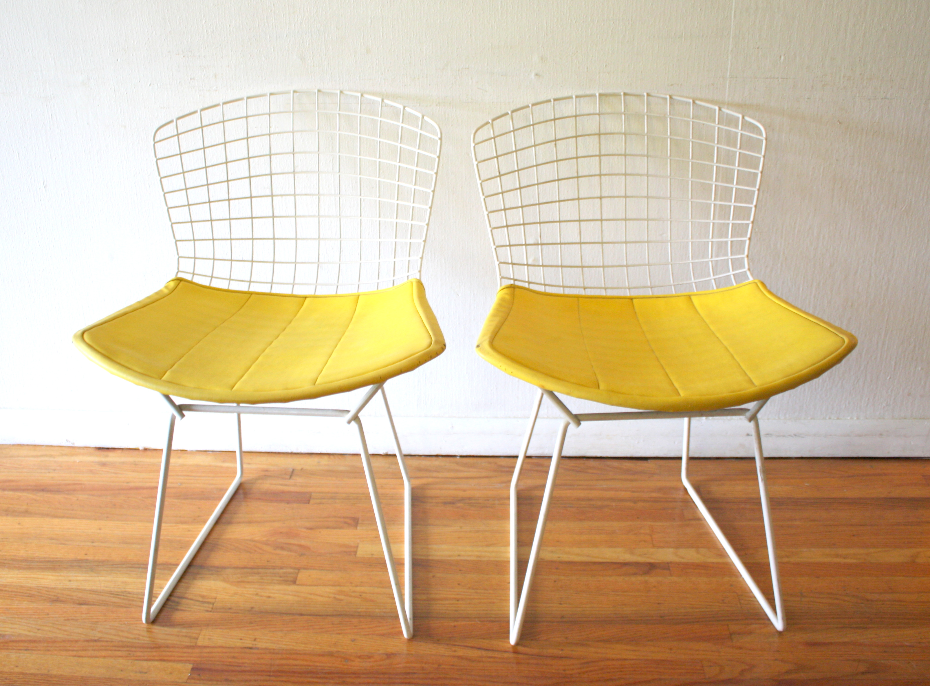 Mid Century Modern Pair Of Bertoia Chairs Picked Vintage