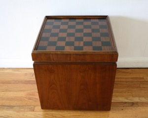 checkerboard game table ottoman 1
