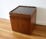 checkerboard game table ottoman 2