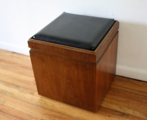 checkerboard game table ottoman 4