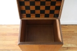 checkerboard game table ottoman 5