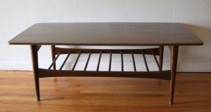 mcm coffee table with slatted bottom shelf 2