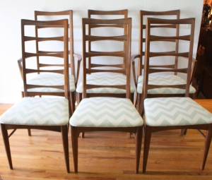 mcm dining chairs bow tie backs 1
