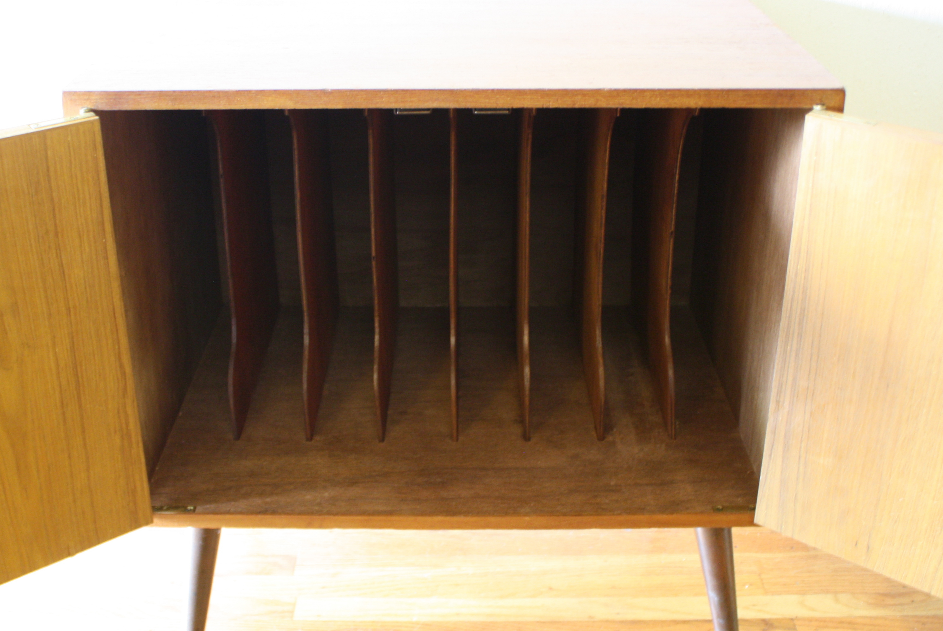 Mid Century Modern Record Cabinet : Picked Vintage