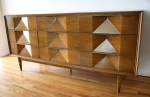 mcm sculpted low dresser with angled concave design 2