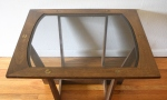 mcm brass screw glass top side table 2