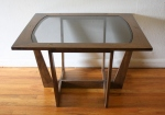 mcm brass screw glass top side table 3