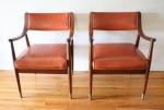 mcm pair of orange chairs 1
